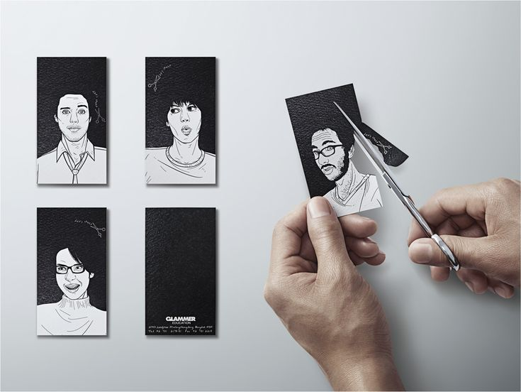 Business card design for Glammer Education Institute of hair design.  More of this at Y Thailand.
