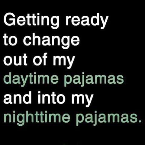 While carefully putting my still-mostly-clean daytime pjs in the bathroom to change back into in the very likely event of waking up drenched in sweat (ick!). That way I'll only have 2 sets of pjs to wash instead of 3, plus the special mini-sheet I sleep on to keep the bedsheets dry ).