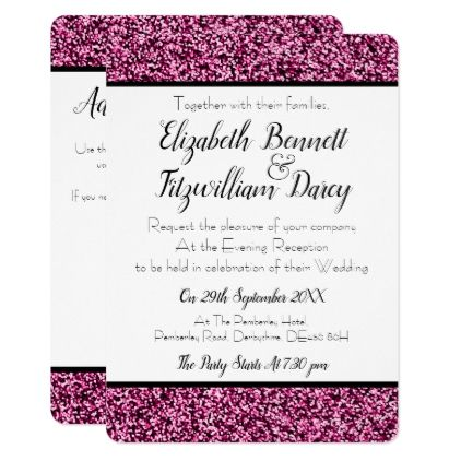 Plum Purple Faux Glitter Evening Invitation Zazzle Com In