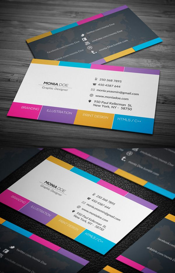 76 Fresh ,Creative Business Card Designs for Inspiration | Awesome ...