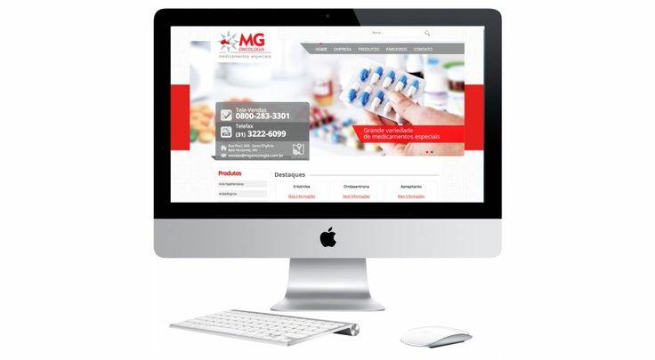 Site criado para empresa MG ONCOLOGIA.