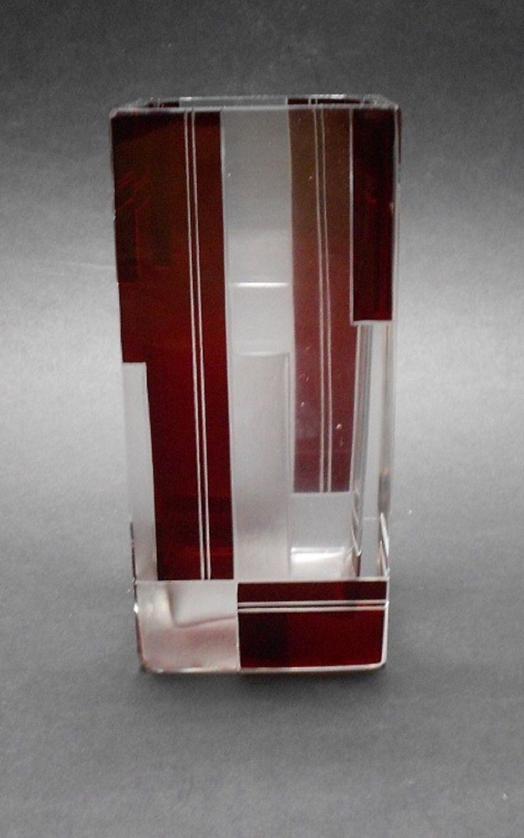 251 best karl palda czech glass images on pinterest czech czech bohemian cut glass vase art deco 1930s geometric design karl palda reviewsmspy