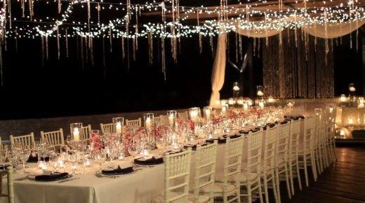 decoracao casamento noite luzes