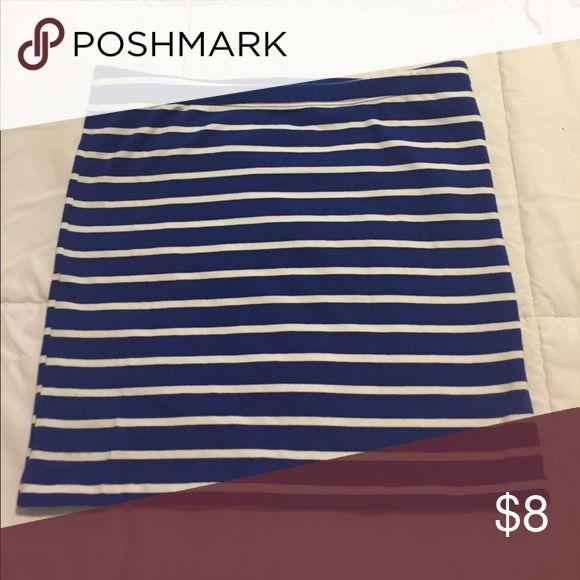Blue and white strip skirt Skirt Forever 21 Skirts Mini