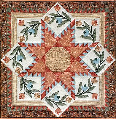 Flowering Star quilt made from a Judy Martin pattern from the 1980s.