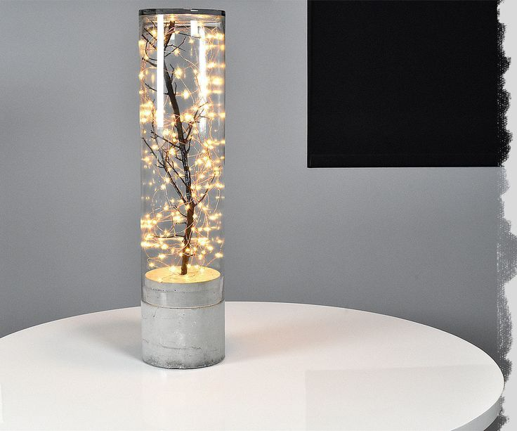 Diy Indoor Outdoor Concrete Lamp 2 Бетонные лампы