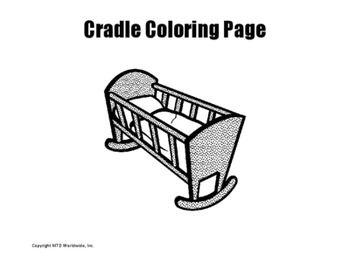 Cradle Coloring Page