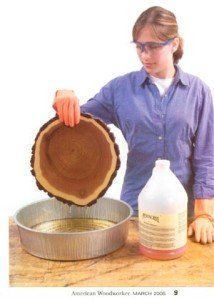 americanwoodworkerqa - how to dry a slab of wood without cracks by using Pentacryl