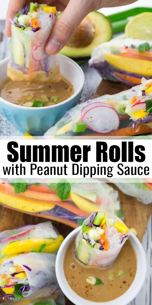 These vegan summer rolls with mango and mint are t…
