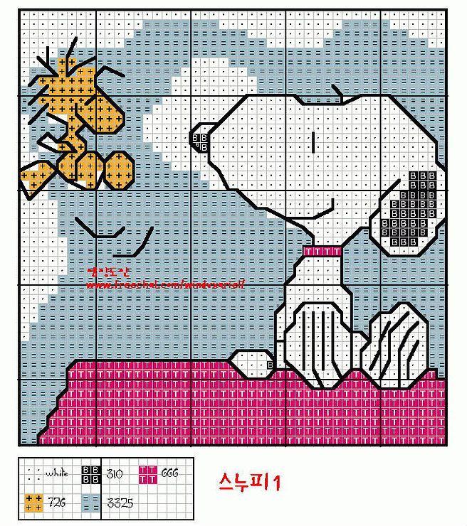 Cross-stitch Snoopy & Woodstock...    Gallery.ru / Фото #73 - Сборное - mornela