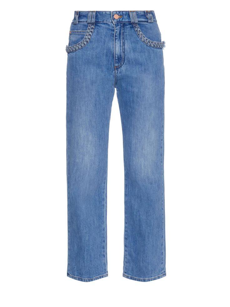 Braid pocket boyfriend-fit jeans | See By Chloé | MATCHESFASHION.COM US