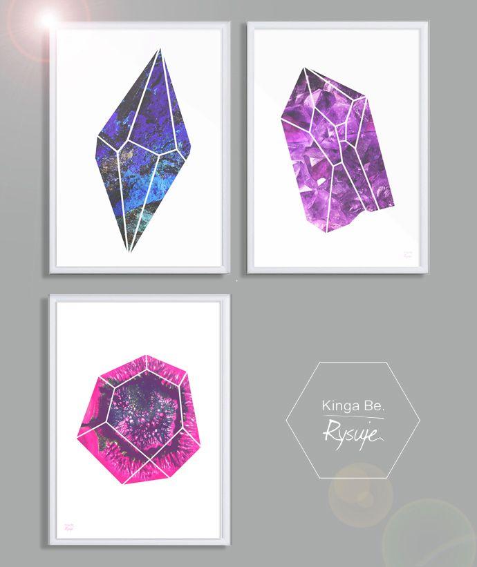 """""""Stones""""/ Grafika do biura z kolorowymi kamieniami"""