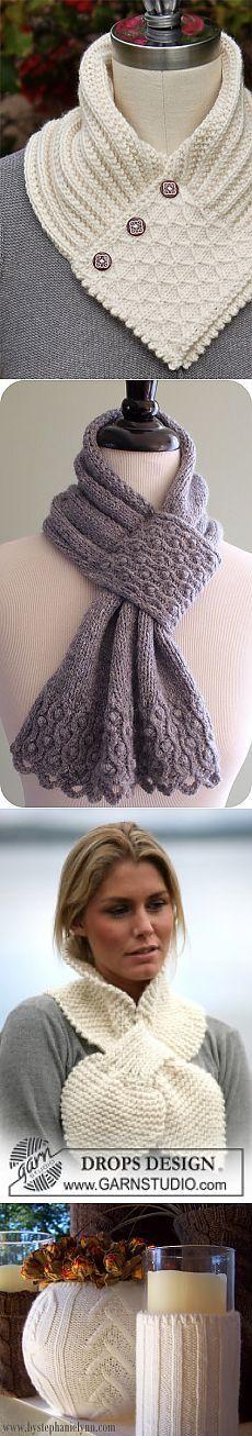 Интересные идеи для вязки шарфов и предметов интерьера.