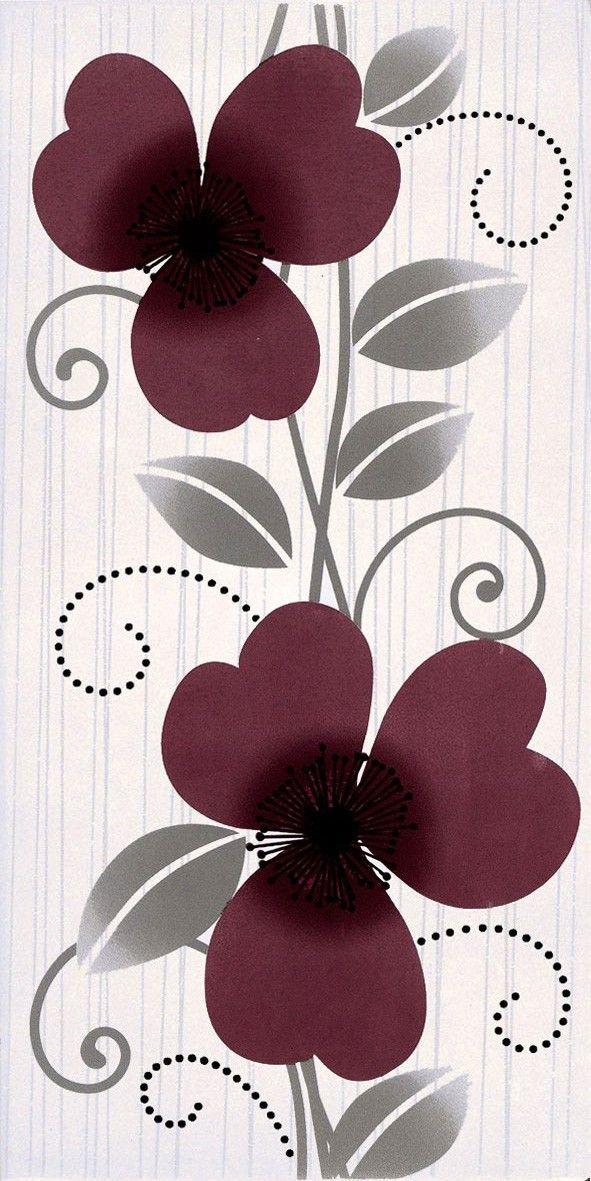 Decor Vision purpuriu 20,2x40,2 cm 2641-0097