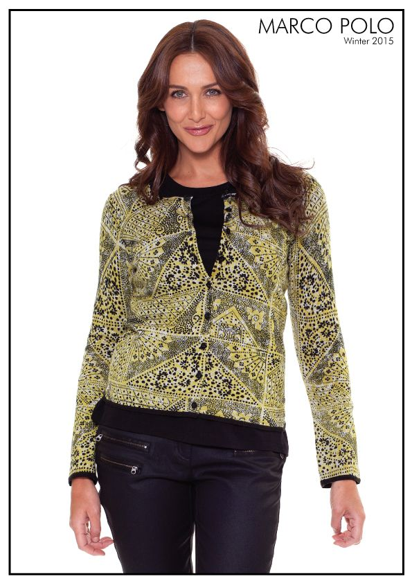 The Long Sleeve Abstract Cardigan is a classic layering option for the trans seasonal months. Fashioned in a beautiful soft printed knit, the collarless style features a round neck with button thru detailing. Perfect paired with coated black pants and boots for all day wear.Please call 03 9902 5100 to locate your nearest stockist or shop online today at http://www.marcopolo.net.au/ (Style Number: YTMW53024)