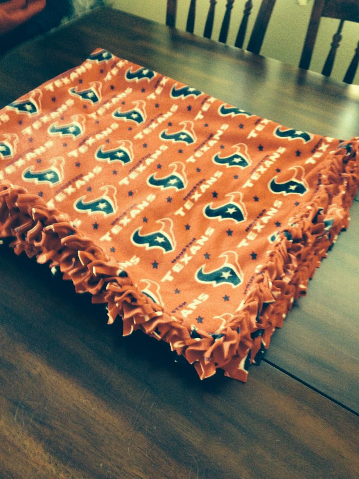 Houston Texans Braided Fleece Blanket (this is really red, not sure why my camera made it look orange).
