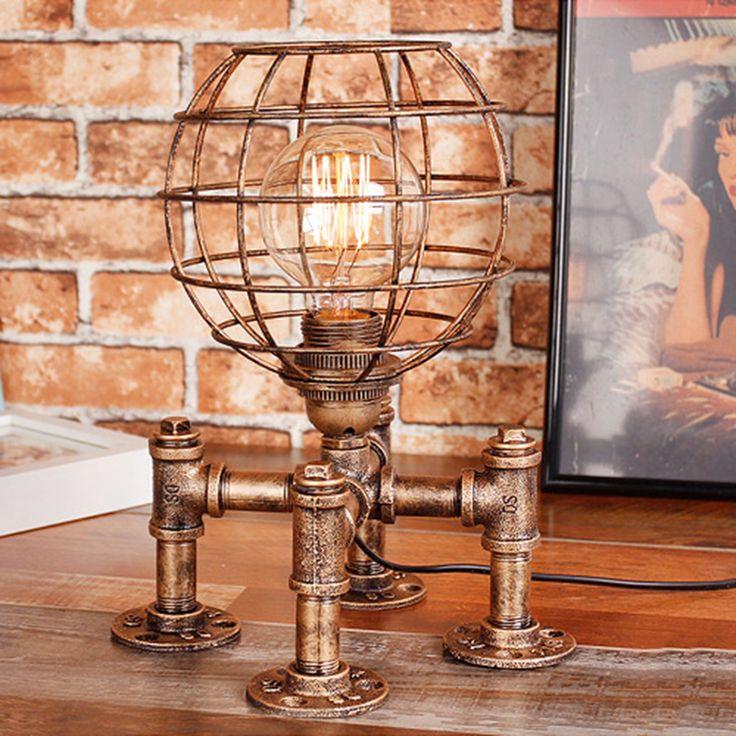 Victorian Embossed Brass Parlor Lamp with Painted Milk