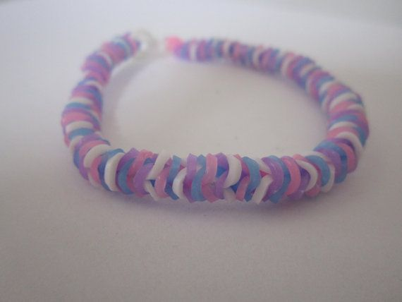 Tightrope rainbow loom bracelet for sale - you choose the colours!