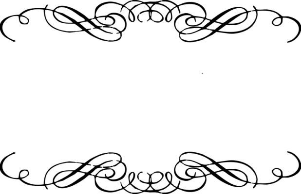 13++ Scrollwork clipart black and white ideas