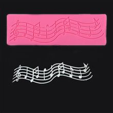 2016 New Multi Music Note Lace Silicone Mold Mould Fondant Mat Cake Decorating Tool Hot(China (Mainland))