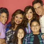 Carlos Ponce, Maria Canals-Barrera, Terri Hoyos, Cristela Alonzo, Isabella Day, and Jacob Guenther in Cristela (2014)