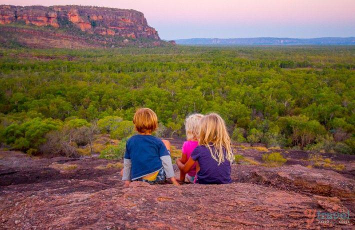 Hiking with kids in Kakadu National Park, Australia