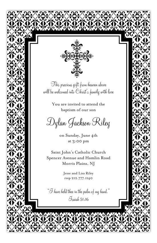 31 Best Baptism Invitations Images On Pinterest