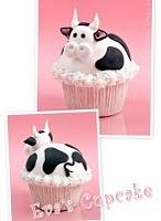 cupcake cows: Cup Cakes, Recipe, Cow Cupcakes, Theme Parties, Farms, Cute Cows, Bull Cupcake, Farm Theme, Party Ideas