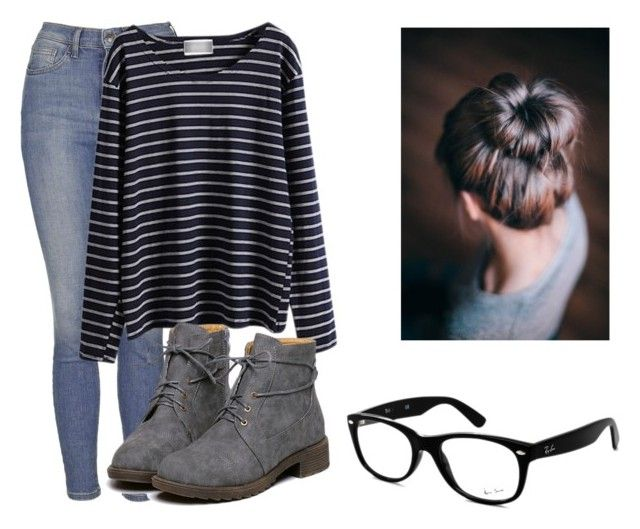 Untitled #127 by mon-holopainen on Polyvore featuring moda, WithChic, Topshop and Ray-Ban