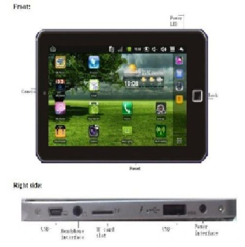 TABLET WIFI SCHERMO 7 POLLICI TELEFONO CELLULARE GSM ANDROID TOUCH SCREEN 3G EX