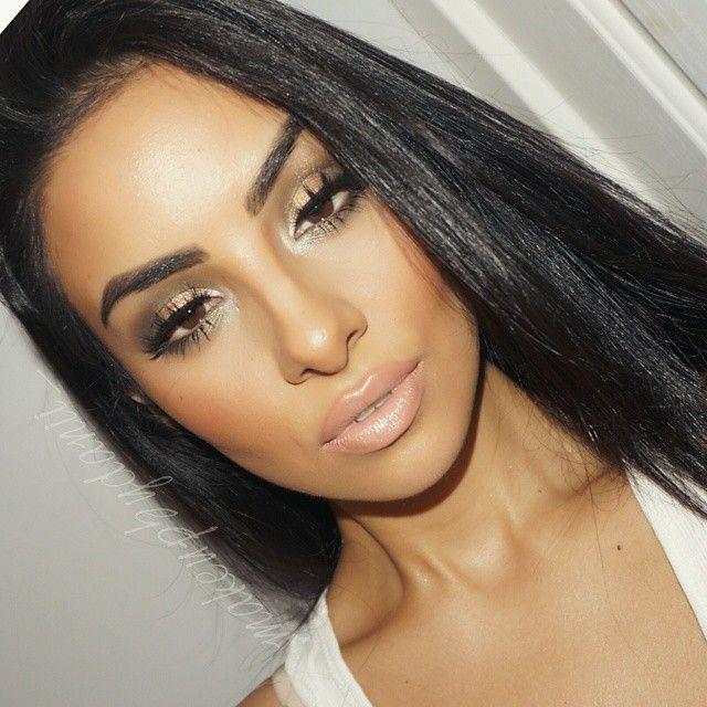 """Kim Kardashian 2015 Grammys inspired makeup. Foundation: Mac studio fix fluid Concealor: Mac pro longwear Contour: @gorgeouscosmeticsofficial endless…"""