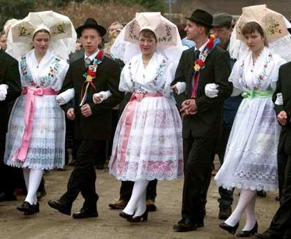 Sorbian Folk Costume in cottbus, Germany