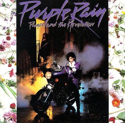 1983. Purple Rain. Prince album cover.