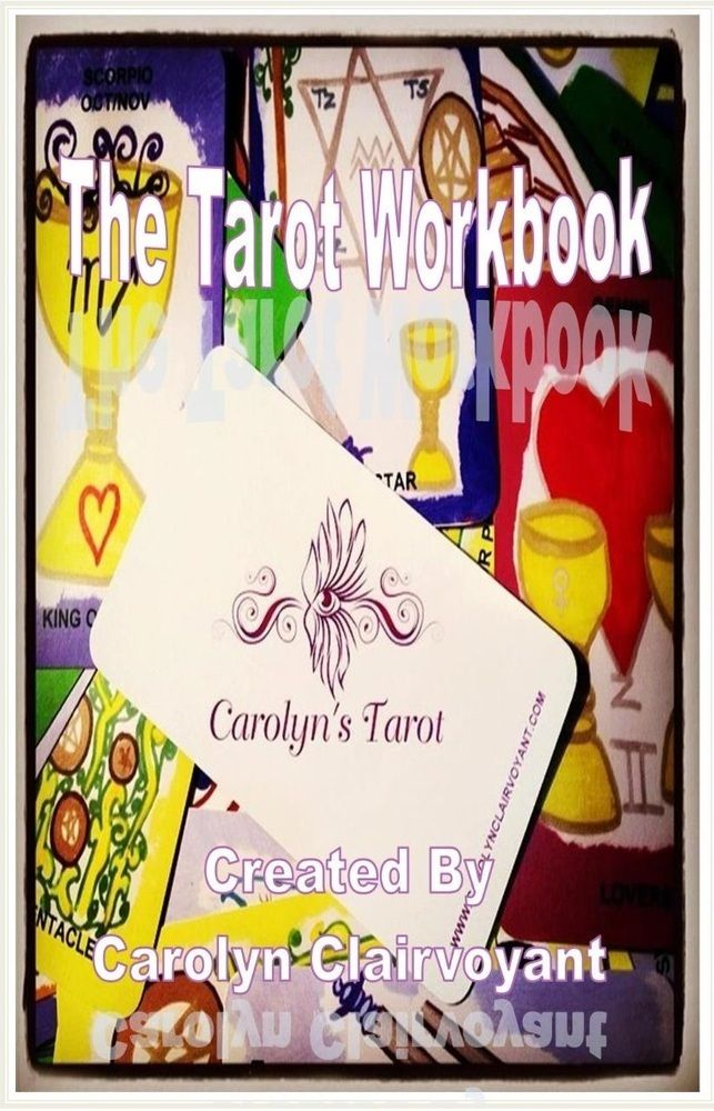 http://carolynclairvoyant.bigcartel.com/product/the-tarot-workbook-direct-from-lulu-available-now