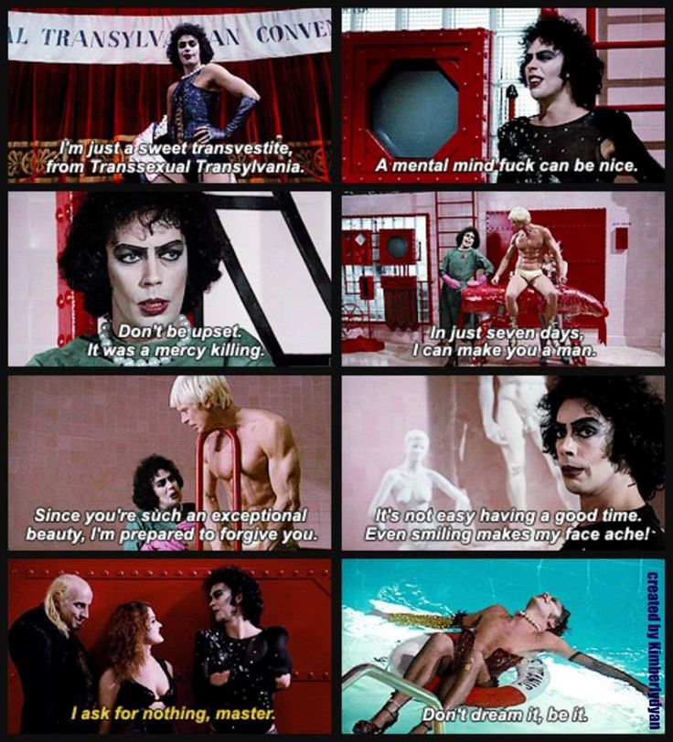 Rocky Horror Picture Show - watched the screen production today (13 Oct '13) - Really enjoyed it!