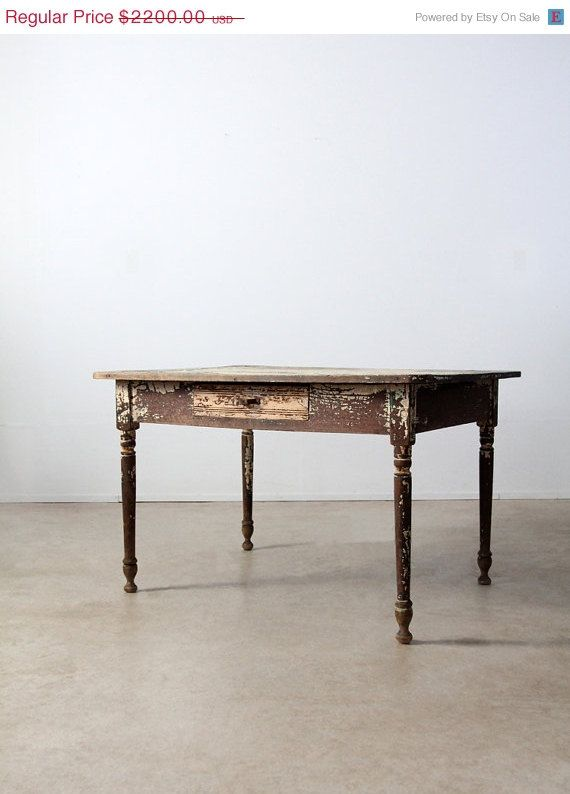 Hey, I found this really awesome Etsy listing at https://www.etsy.com/listing/178515834/sale-primitive-table-antique-wood