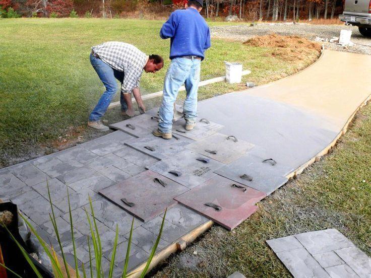 как самому сделать печатный бетон
