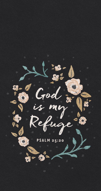 God is my refuge mobile wallpaper