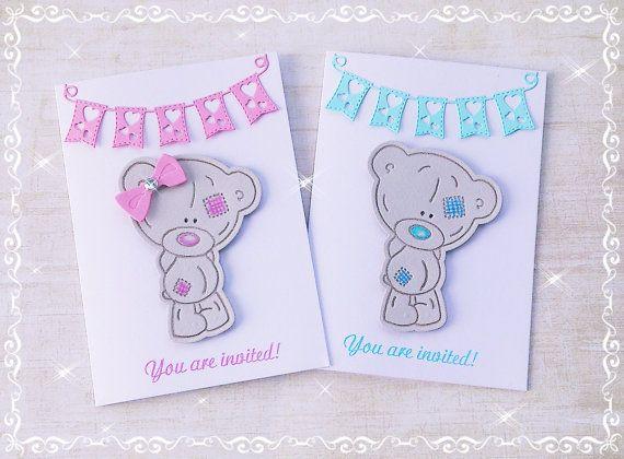 12 x Tatty Teddy Invitations Handmade Birthday by DidiLandCrafts #tatty #teddy #tattyteddy #metoyou #me2u #cardmaking #invitations #invites #baby #kids #party #babyshower #babygirl #babyboy