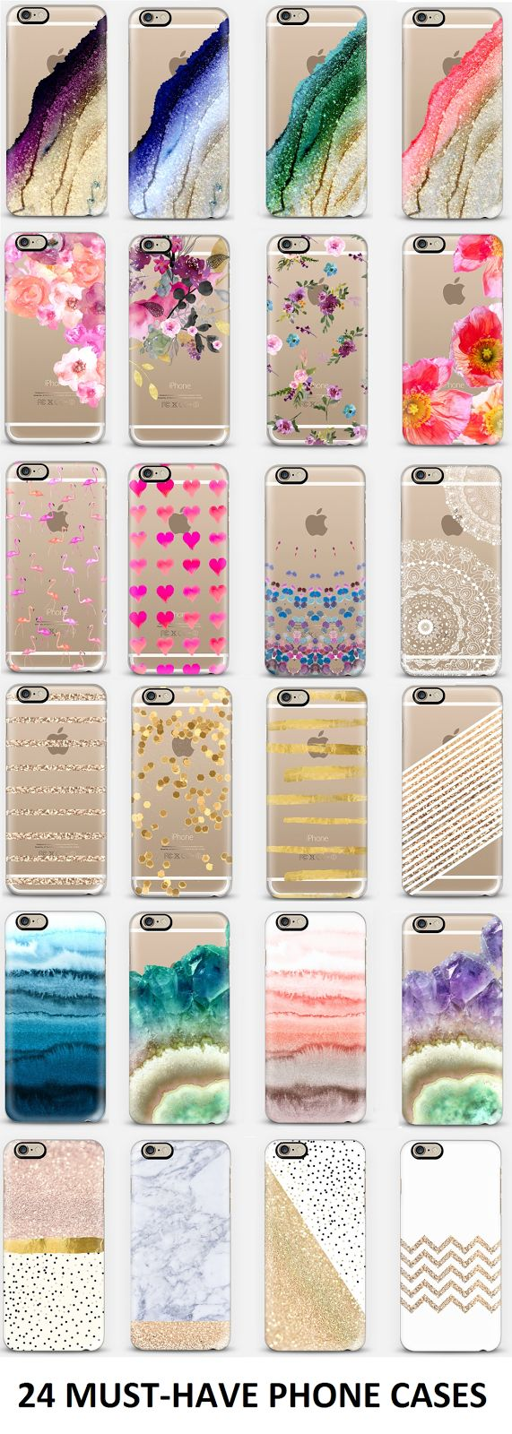 24 must-have phone cases// something plain or mostly plain; maybe with gold or marble accents