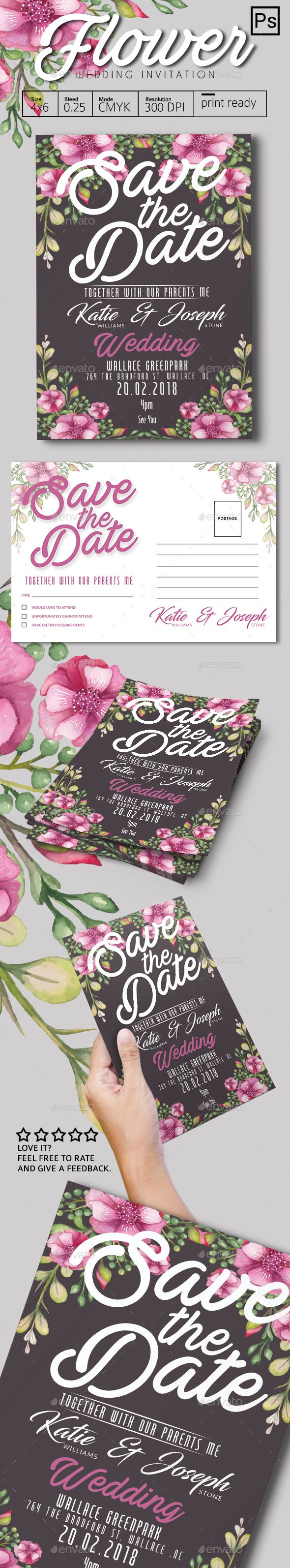 Flower Wedding Invitation 59 best Wedding card