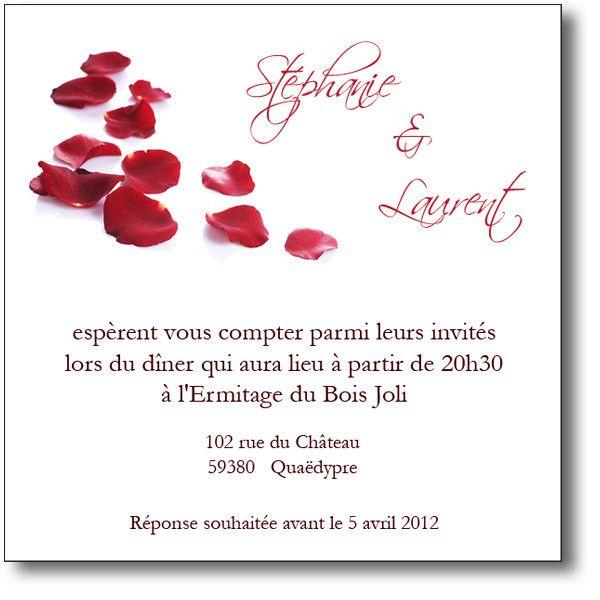 Invitation Mariage Modele