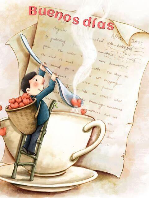 Buenos días corazones café