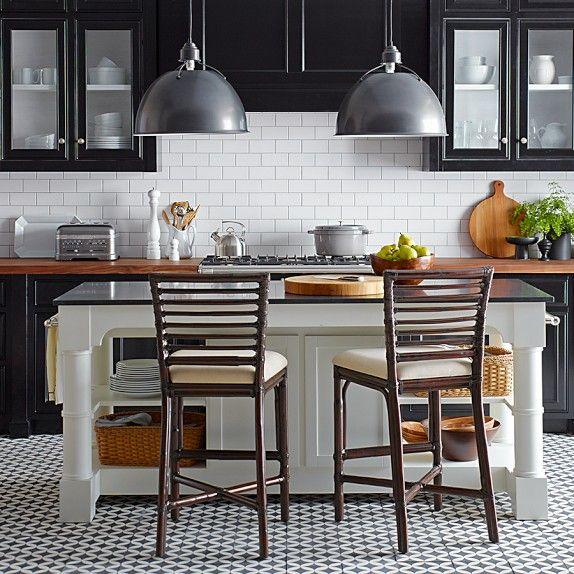 White Kitchen Island Black Granite Top: Barrelson Kitchen Island With Black Granite Top In 2019