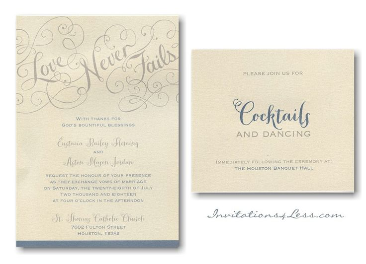 Love Rules Wedding Invitation