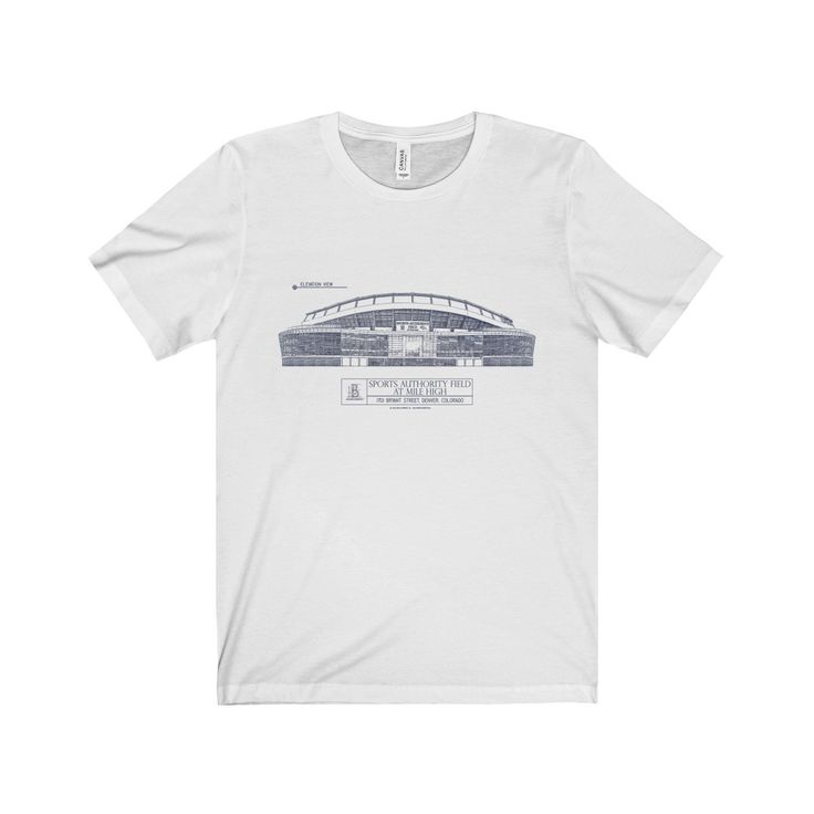 Sports Authority Field at Mile High (Blue Lines) Jersey Short Sleeve Tee