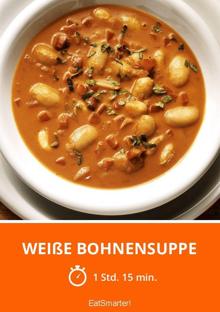 Weiße Bohnensuppe - die geht einfach und ist auch als Partysuppe ein Knaller!