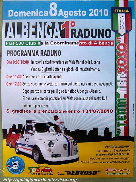 fotografie e altro...: Albenga (SV) - 1° Raduno Fiat 500 - 8 Agosto 2010