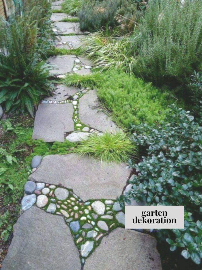 Gartenwege Gestalten Steinplatten Kies Gartenpflanzen Bodenbelag Gartengestaltun Bodenbelag Gartengestaltun Garten Garten Garten Landschaftsbau Vorgarten