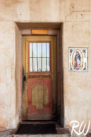 Guadalupe Chapel Door at Mission San Miguel Arcangel, San Miguel, California